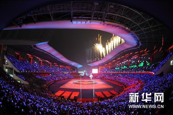 Photo taken on Dec. 12, 2010, shows the opening ceremony of the 2010 Asian Para Games held in Guangzhou, south China's Guangdong Province. (Xinhua/Han Chuanhao)