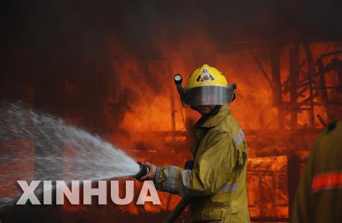 حريق يدمر الف منزل فى مانيلا الكبرى
