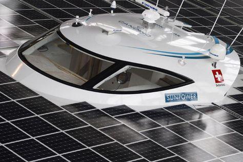 全球最大太阳能动力船亮相将环游世界