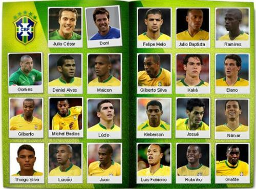 Dunga announced the list of 23 players that will participate in the World Cup in South Africa 2010 in Rio de Janeiro May 11, 2010.    (Xinhua Photo)