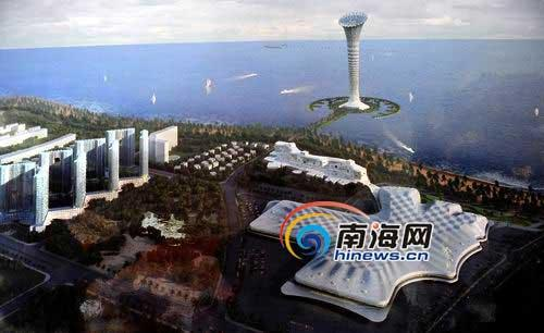A drawing of the planned 7-star Haikou Millennium Hotel [Photo: hinews.cn]
