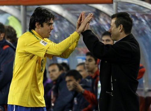 Brazil coach Dunga admitted Kaka's yellow cards were a concern as they are bidding to win the World Cup for the sixth time.