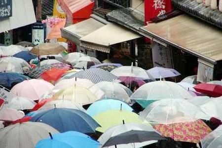 Hello brolly. (Photo source: Global Times)