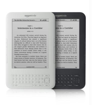 The Amazon Kindle Wi-Fi e-book reader is shown in this publicity photo released to Reuters on July 28, 2010. Amazon.com launched a cheaper, wireless-only Kindle on Wednesday, betting that the 139 U.S. dollars price will turn its latest electronic reader into a mass-appeal device as Apple Inc's iPad gains ground. The world's largest online retailer and leading e-reader seller also revealed its third generation Kindle, some 21 percent smaller and 15 percent lighter than the previous version, but still priced at 189 U.S. dollars.(Xinhua/Reuters File Photo)