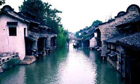 Photo shows Wuzhen, an ancient town of eastern China's Zhejiang Province.
