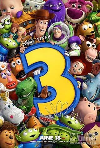 "The poster of ""Toy Story 3"" (Photo Source: mtime.com)"