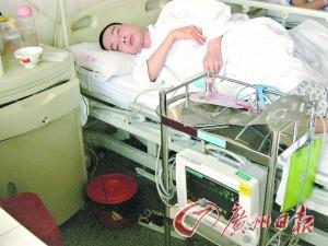 躺在病床上的姚汉清十分虚弱