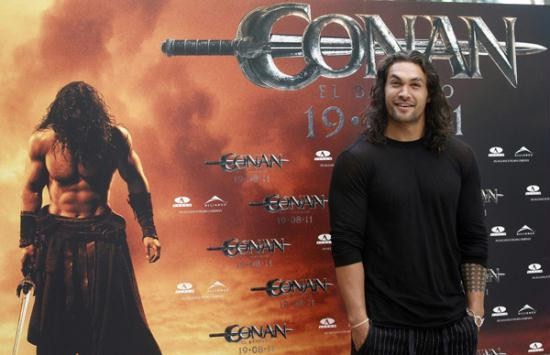 jason momoa promotes movie quotconan the barbarianquot in madrid