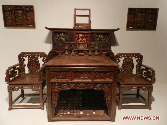Photo ... - Valuable Antique Furniture Exhibited At Capital Museum In Beijing