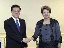 Entretien entre les présidents chinois et brésilien à Cannes