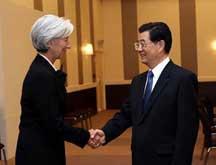 Le président chinois rencontre la directrice générale du FMI