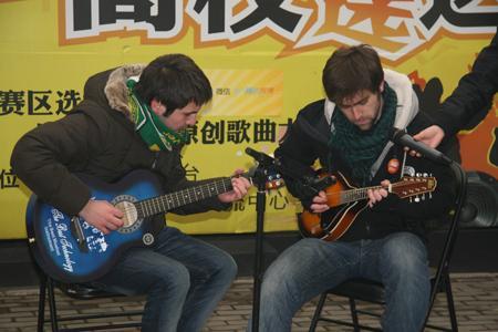 留学生选手表演