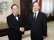 Премьер Госсовета КНР Вэнь Цзябао встретился с главой администрации САР Сянган
