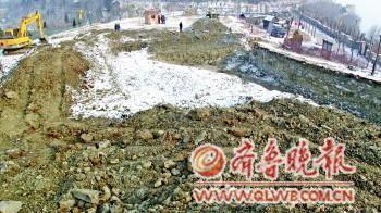 1月31日,沂水天上王城景区,位于崮顶的文物挖掘现场。