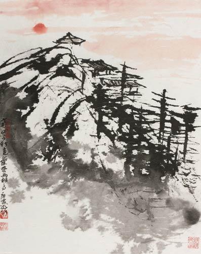 崔如琢指下的枯树和石坡纵横变化,环转飞动之势,其力量感往往非毛笔所