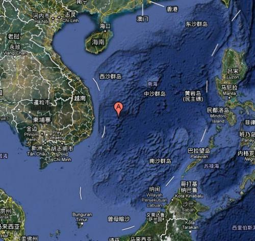 南海地理位置(示意图)