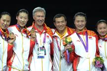 China beats South Korean to win women´s epee team event gold medal at Olympics