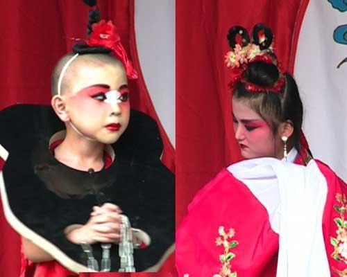 演唱曲剧的刘翱翔同学和演唱柳子戏的黄琪同学在周六打擂结束后暂时排在第一位和第二位