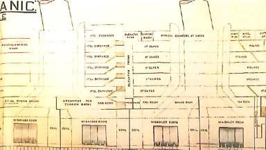 泰坦尼克号图纸局部