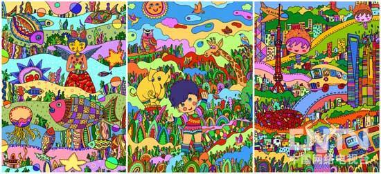 森林主题的简笔画彩色
