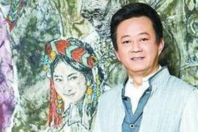 CCTV사회자 주쥔 첫 회화 개인전 중국미술관서