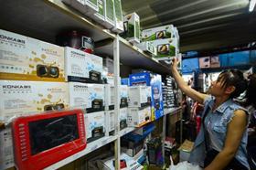 키르기스스탄에도 중국 제품들이 가득