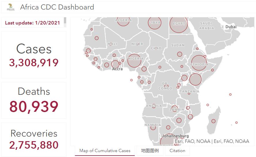 非洲大陆新冠肺炎累计确诊病例超330万人