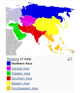 <em>Southwest Asia or Southwestern Asia (largely overlapping with the Middle East) is the southwestern portion of Asia. </em><a></a><br><center><font color=#cc0000>----------------------------------------------------------</font></center><br>