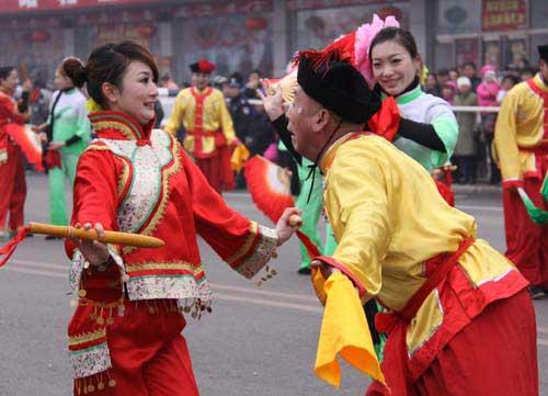 Flower Show and Yangko Dance staged in Pinggu for festival