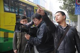 《百年中山舰》摄制组拍摄武汉外景<br><br><br>