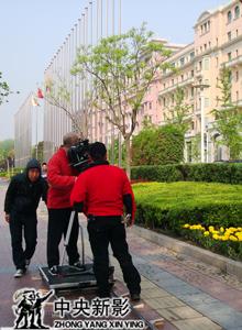 拍摄北京饭店外景