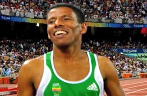 <center>埃塞俄比亚长跑运动员<br>海尔·格布雷塞拉西耶</center>