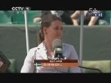 2013年法国网球公开赛女单1/4决赛 扬科维奇VS莎拉波娃 第一盘 20130605