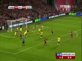 [国际足球]欧预赛附加赛次回合:丹麦2-2瑞典 比赛集锦