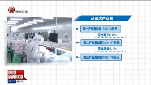 [贵州新闻联播]前三季度贵州经济同比增长9%