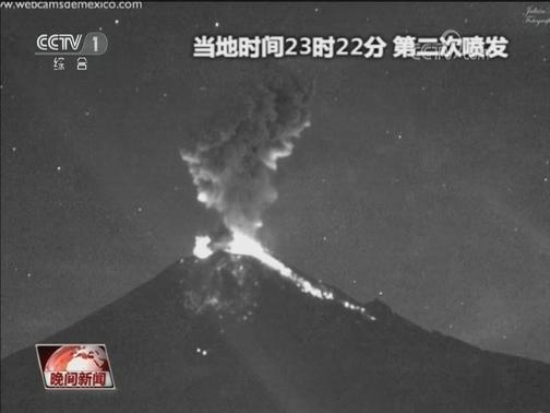 [视频]墨西哥波波卡特佩特火山夜间喷发