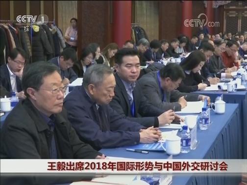 [视频]王毅出席2018年国际形势与中国外交研讨会