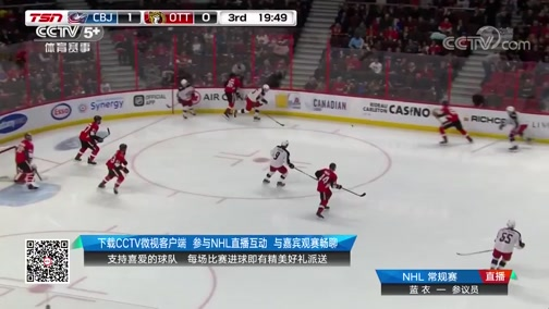 [NHL]常规赛:哥伦布斯蓝衣VS渥太华参议员 第三节