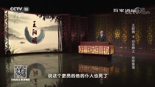 王阳明 4 心在物上 心即是理 百家讲坛 2019.02.23 - 中央电视台 00:37:55