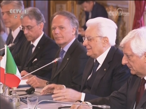 [视频]习近平同意大利总统举行会谈