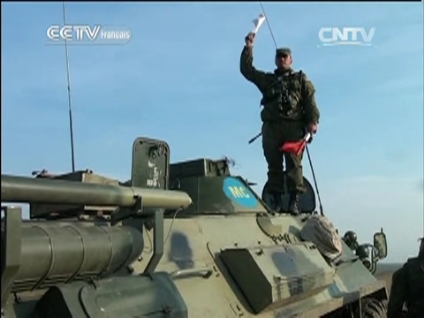 Retrait d'un bataillon russe de la frontière ukrainienne