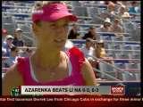 Video: Azarenka beats Li Na 6-3, 6-3