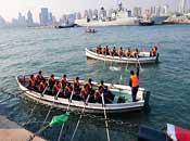 青岛封港迎接海上阅兵