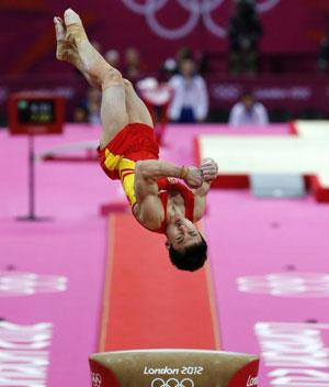 体操男团预赛战罢 中国队列小组第二