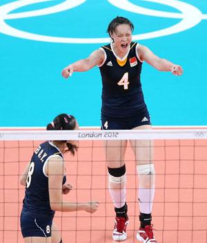 女排3-1力克土耳其 喜获奥运小组两连胜
