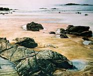 海滩--水彩画