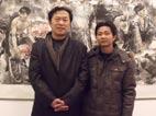 和恩师刘怀勇先生在中国美术馆