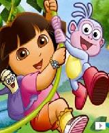 爱探险的朵拉<br>是由美国尼克儿童频道专门针对1至5岁学龄前儿童制作的美式英语教学动画片!