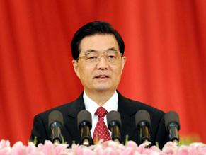 <br>胡锦涛:党的成就依靠人民 人民是真正的英雄