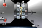 Schematic images for China´s first space docking mission